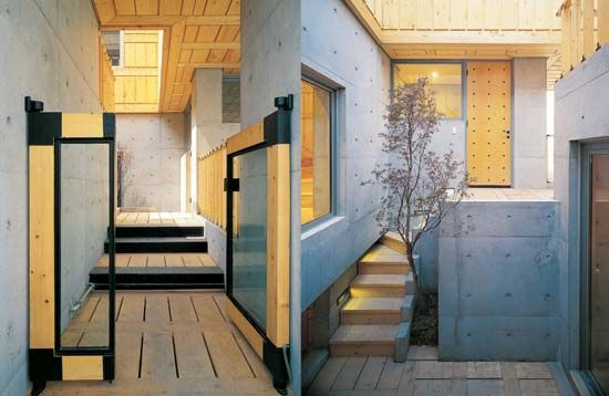 Modern traditional Korean House in contemporary style - Exterior Glass Doors