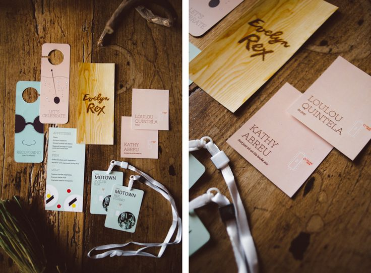 wedding stationary from Evelyn and Rex's wedding. Made by Como Branco wedding design
