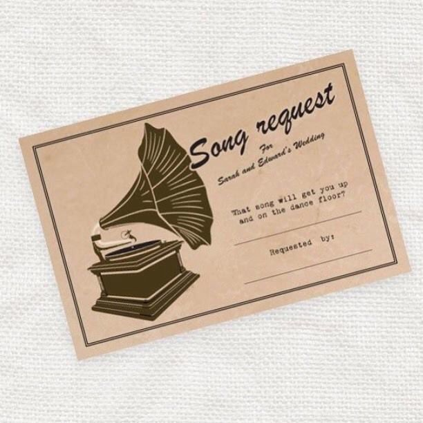Vintage Weddings DO IT YOURSELF Song Request Card