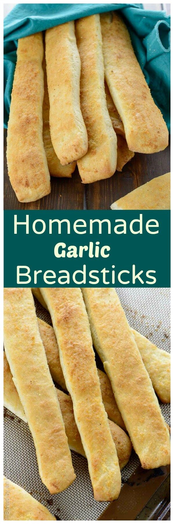 Super soft garlic breadsticks made from scratch. You will never want store-bought breadsticks again! via @introvertbaker