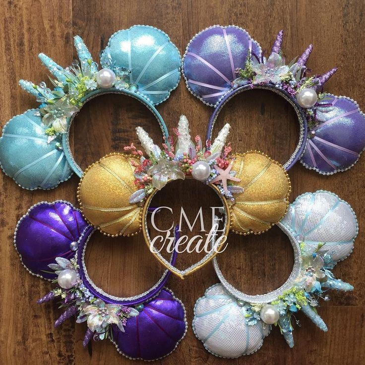 I want to be where the mermaids are... #mermaidears #mermaidcrown #customears #mermaidcrownears