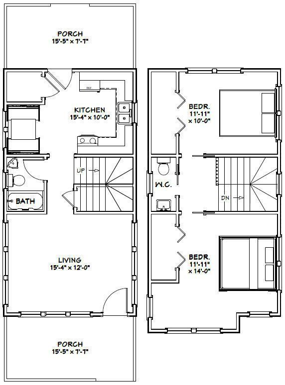 The Best 2 Bedroom House Floor Plans Pdf And Description Narrow House Plans New House Plans Tiny House Plans