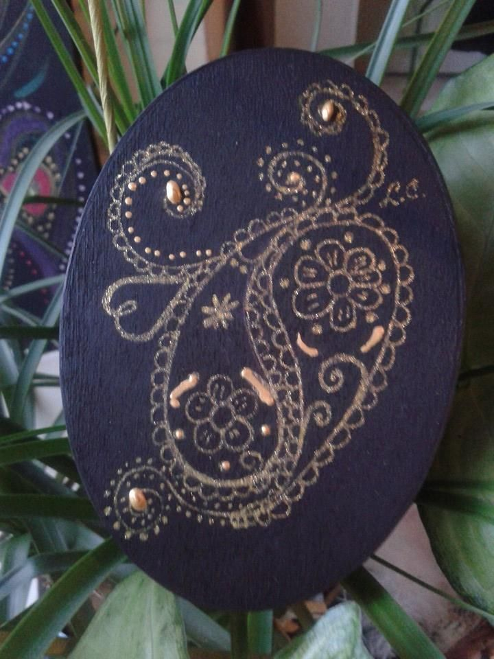 Paisley jewelry box handmade  copyright@ Laura Ciocoiu