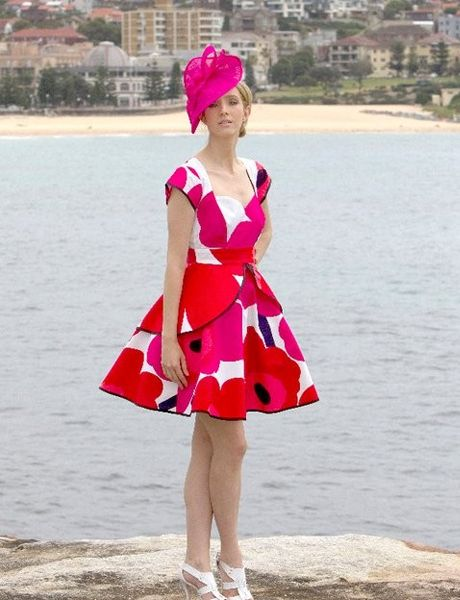 Marimekko Red Unikko Print Dress