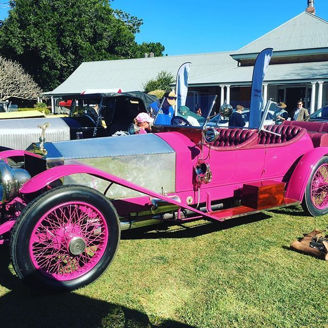 Love this 1913 Rolls Royce Silver Ghost in original colour Black Cherry 🍒 #rollsroyce #cars #vintage #pink#fun#happy #carshow #concoursedelegance #queensland #brisbane #australian #gorgeous #