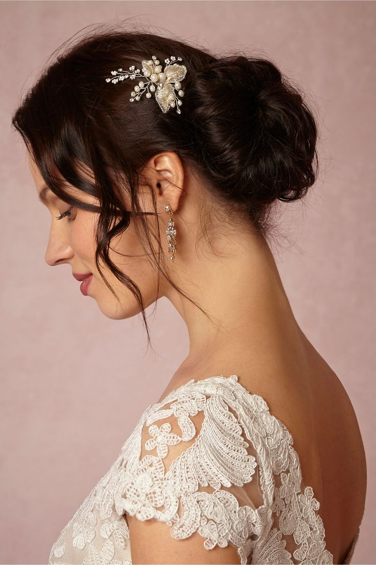 Goldleaf Hairpin from @BHLDN - The hairpin is pretty cool & has that woodsy, fairy vibe going on.