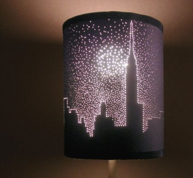 14 best 2014 new lamp shade collection 2laser cut images on holes punched in a black lamp shade in any design make a great light show aloadofball Image collections