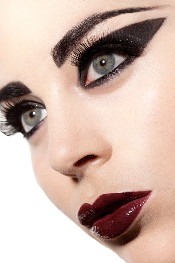 Beautiful gothic lady with stunning makeup.