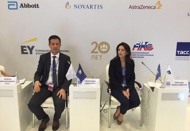 Στο πλαίσιο της ελληνικής παρουσίας και συμμετοχής στο 20ο Διεθνές Οικονομικό Φόρουμ της Αγίας Πετρούπολης στη Ρωσία με επικεφαλής την Αν. Υπουργό Οικονομίας Ανάπτυξης και Τουρισμού κα Έλενα Κουντουρά, ο Γενικός Γραμματέας Τουριστικής Πολιτικής και Ανάπτυξης του Υπουργείου κ. Γιώργος Τζιάλλας και η εκπρόσωπος του φορέα Enterprise Greece κα Χίλντα Αλυσανδράτου μίλησαν σε ειδική εκδήλωση …