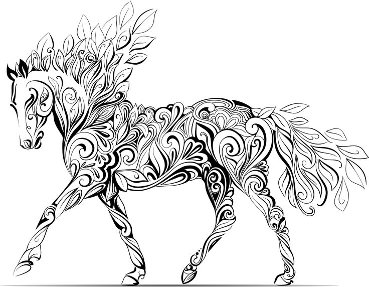 Horse Coloring Pictures For Adults Coloring Pages