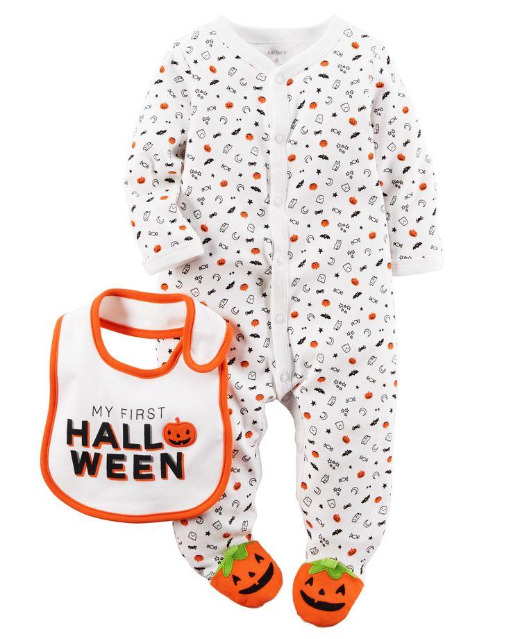 Baby Neutral 2-Piece Cotton Halloween 1-Piece & Bib Set   Carters.com