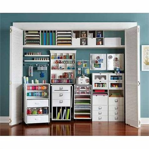 Oh to be this organized! CRAFT ROOM STORAGE sale buy one get one for 1¢ @Michael Dussert Dussert Sullivan Stores