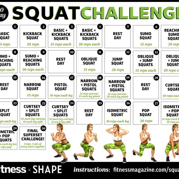 30-Day Squat Challenge: One Month to a Better Butt