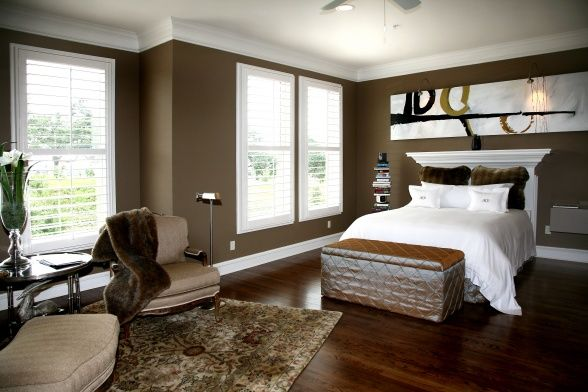 Valspar Paint Taupe 6 Contemporary Bedroom Home