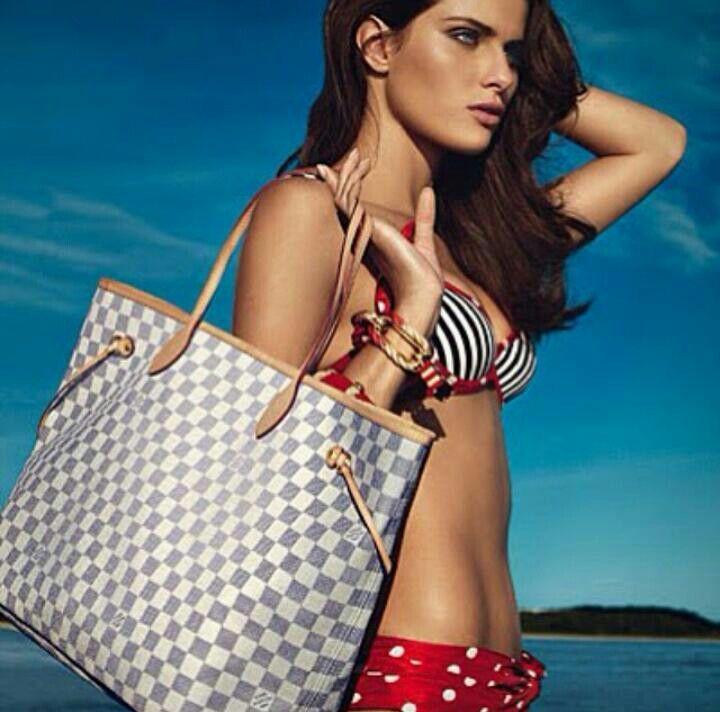 Louis Vuitton Never full Damier Azur