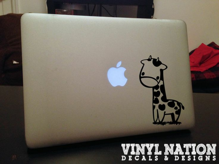 Giraffe cute custom macbook decal 11 13 15 17 vinyl air pro