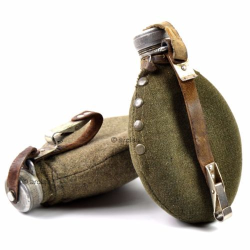 WWII-Original-Sweden-swedish-Army-Drinking-Flask-Water-Bottle-Military-Canteen