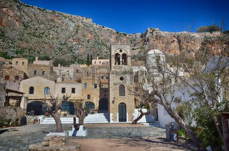 Greek destination, medieval city of Monemvasia Stock Photo - 48132255