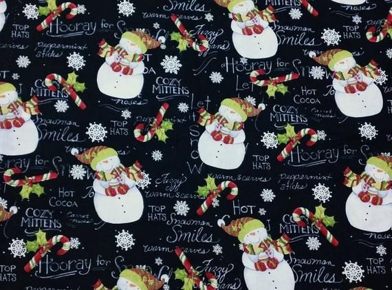 2020 Susan Winget Christmas Hooray For Snow Susan Winget Christmas Cotton Fabric BTY   Etsy in