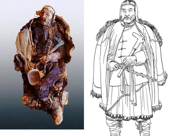 Реконструкция внешнего вида таримской мумии  Tilla Deniz Baykuzu https://www.facebook.com/tdbaykuzu   Тари́мские му́мии — мумифицированные тела европеоидов XVIII века до н. э. — II века н. э., сохранившиеся в засушливых условиях пустыни Такла-Макан близ Лоуланя. Также мумии были найдены на восточном конце бассейна реки Тарим вокруг Турфана, близ Нии, Черчена и вдоль южного края Таримского бассейна