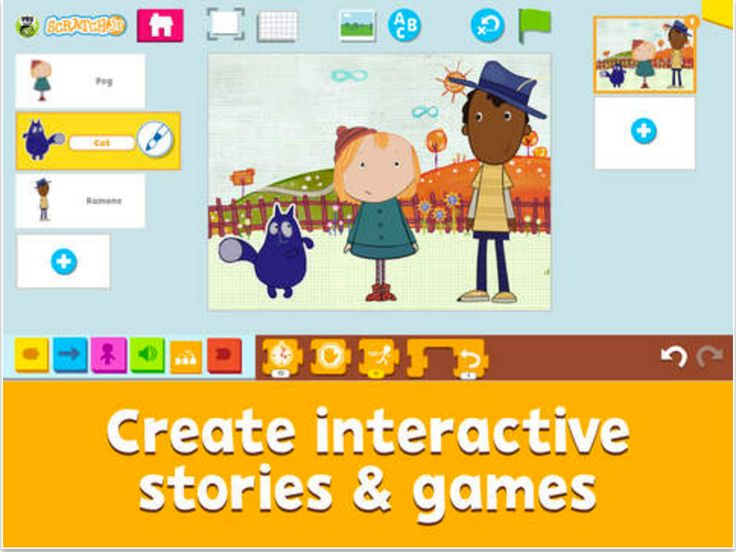 A New Interesting App to Help Kids Learn Coding Through Creating Games and Interactive Stories
