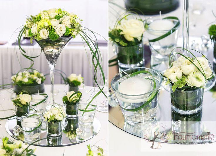 Blumendeko  Hochzeit  Pinterest  Blumendeko Tischdeko und Hochzeitsdeko