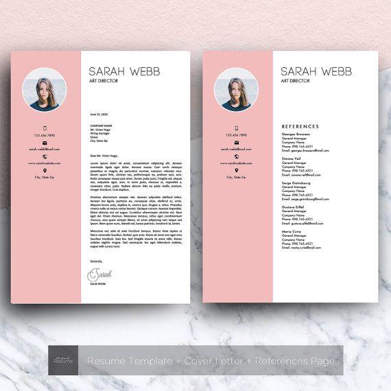 Reprendre Le Modele Avec Photo 3 Pages Cv Couverture Etsy Modele Lettre De Motivation Modeles De Lettres Microsoft Word
