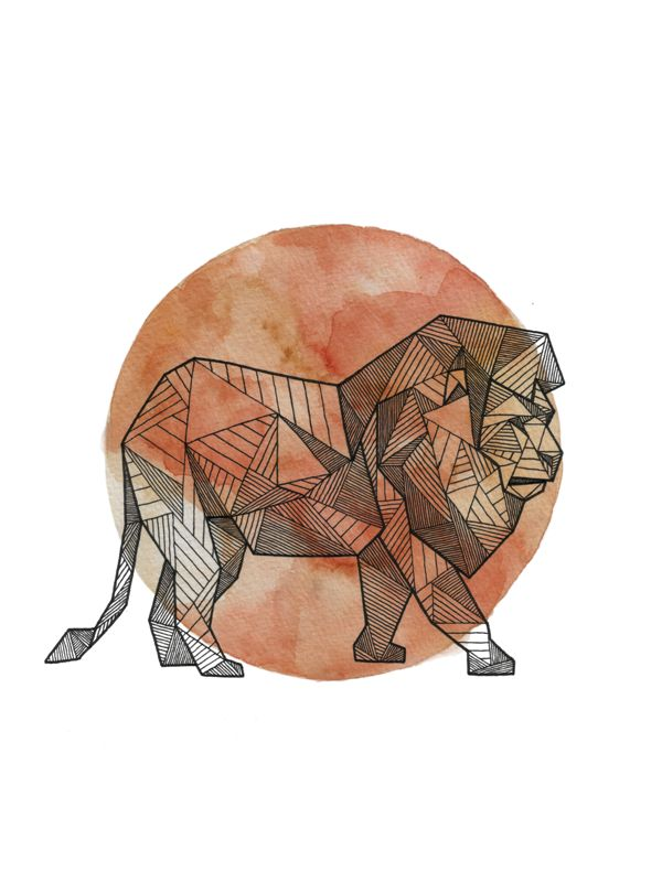 Geometric Animals by Allison Kunath, via Behance. geometric and watercolor tattoos are really in right now and i actually like them?