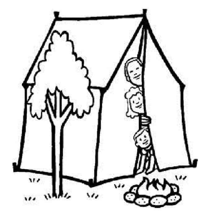 Camping Coloring Pages Pdf In 2020 Camping Coloring Pages Halloween Coloring Pages Printable Valentines Day Coloring Page