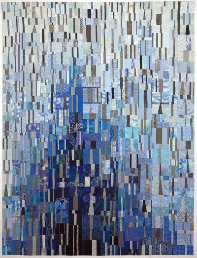 """Stacks on Stacks by Vicki Conley. """"The Artist as Quiltmaker XVII"""" New Union Center for the Arts, Oberlin, Ohio, through July 31, 2016"""