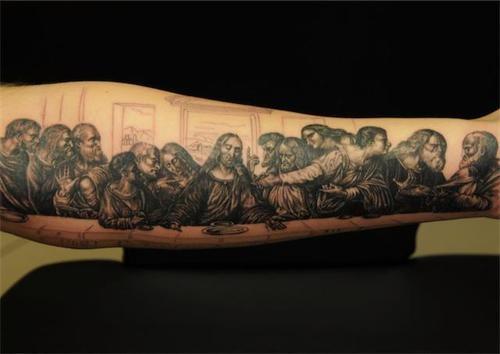 last supper portrait tattoo tattoos pinterest