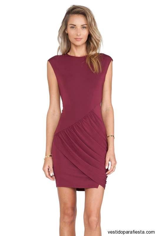 17 Mejores Ideas Sobre Vestidos Color Vino Cortos En Pinterest | Vestidos Vino Vestidos De ...