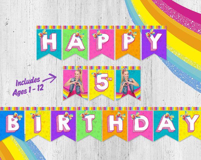 jojo siwa birthday banner