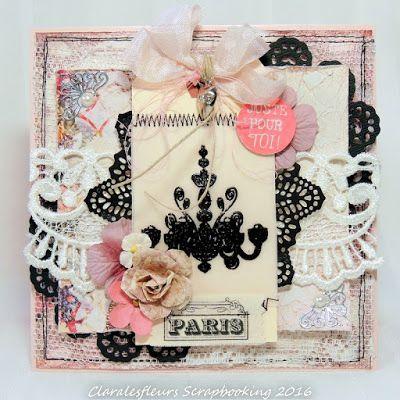 Claralesfleurs Scrapbooking 2016 - Carte avec Tales of you and me de Prima...