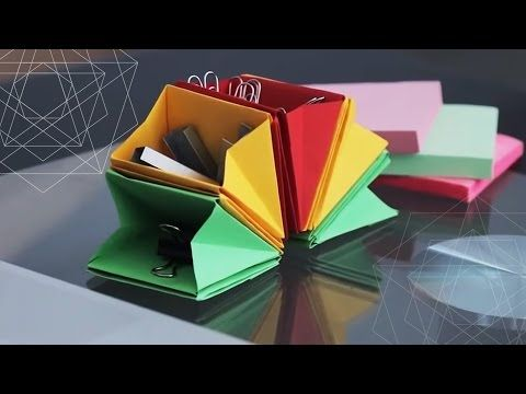 DIY DESK ORGANIZER ☘ back-to-school life hack - YouTube
