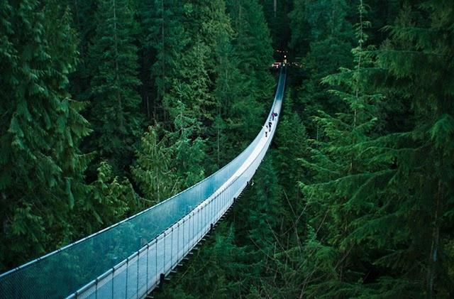 Capilano Suspension bridge in Canada- I have crossed it!