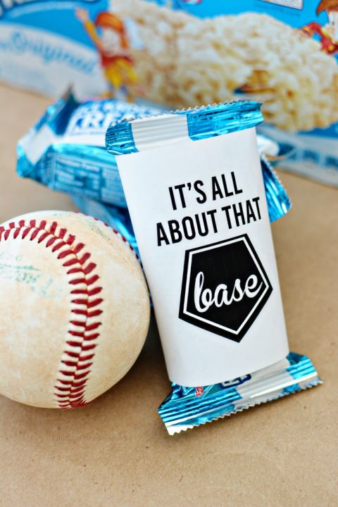 It's all about that base - printable baseball wrapper from www.thirtyhandmadedays.com