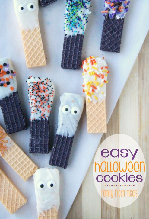 These Easy Halloween Cookies are a cinch to make and the perfect cookies to get the kids involved with. They are fun to make and MORE fun to eat!