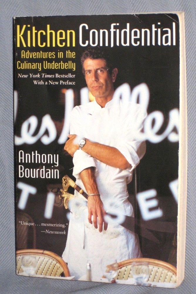 Kitchen Confidential Paperback Book Signed By Chef Anthony Bourdain New York Anthony Bourdain Kitchen Confidential Paperback Books
