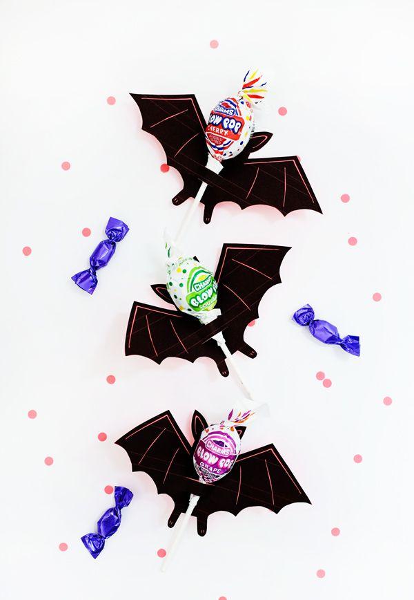 Printable Bat Lollipop Holder   Oh Happy Day!