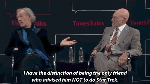 When Sir Ian revealed that he tried to talk Sir Patrick out of doing Star Trek: | 21 Times Ian McKellen And Patrick Stewart Were The Cutest Work BFFs