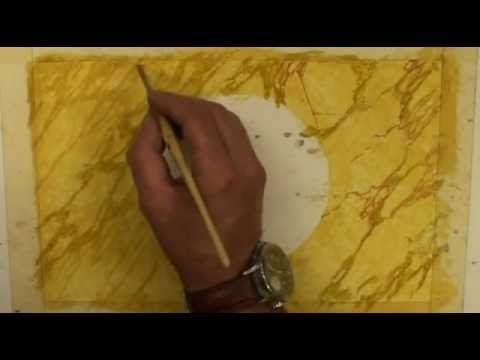 Bruno Muratori - Realizzazione di una cornice Effetto Marmo - YouTube
