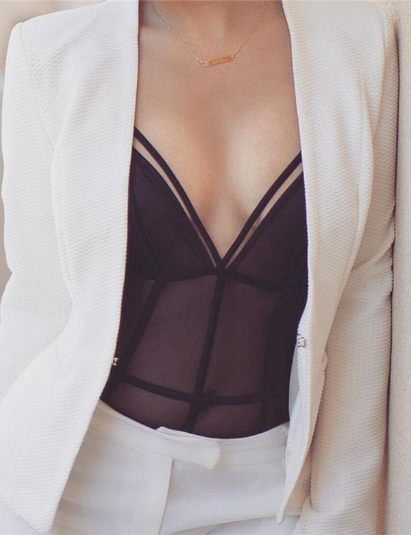 Lingerie Bodysuit Black Sexy