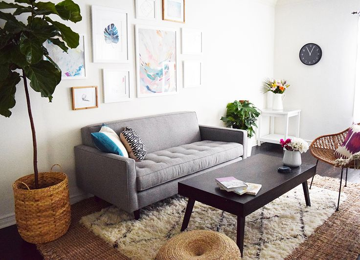Best 25 room tour ideas on pinterest trestle desk - Bohemian urban fusion living room ...