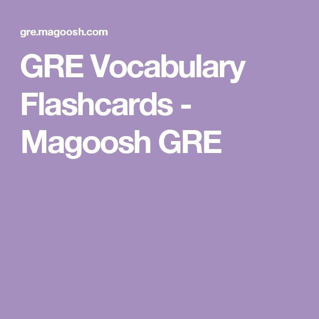 GRE Vocabulary Flashcards - Magoosh GRE