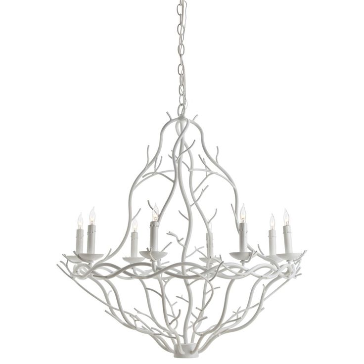 89322 Durango Iron Chandelier White Finish Specifications Dimensions H