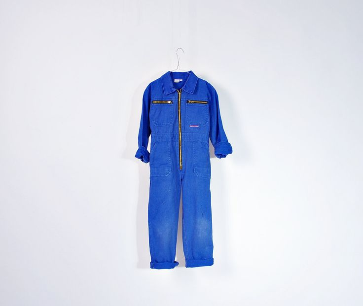 90s Planam Mechanic's Workwear Kids Jumpsuit Coveralls / Size 7/8 Years