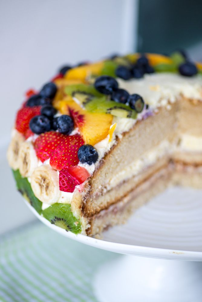 Bløtkake - Norwegian Cream Layer Cake. I'd put fruit in the middle too!
