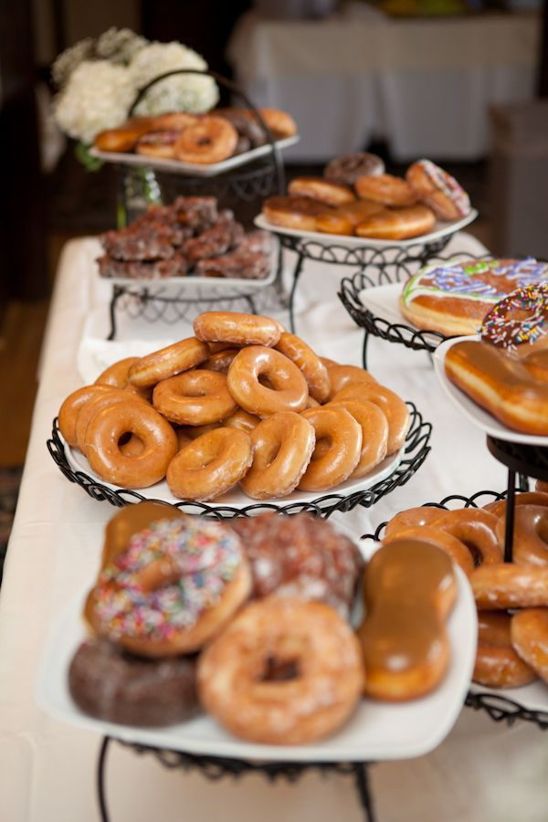 donuts for wedding dessert table