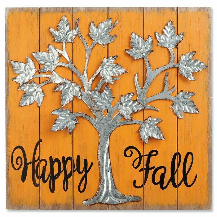 Metal Tree Happy Fall Harvest Plaque Hanging Life Accent Decoration Wall Decor Na Metal Tree Wall Art Metal Tree Art Gallery Wall
